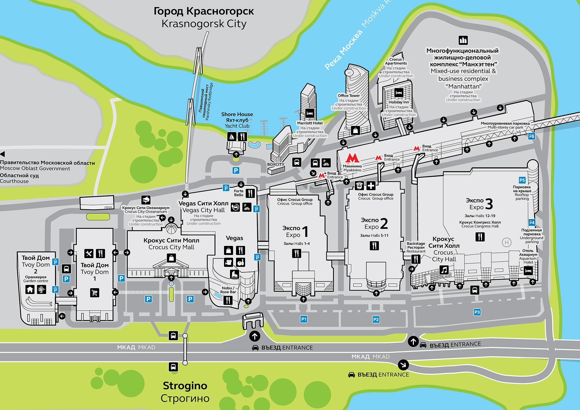 Схема 2 павильона крокус экспо