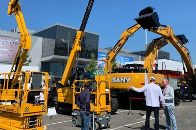 The 20th anniversary main exhibition of construction equipment В Bauma CTT Russia began its work in Crocus Expo