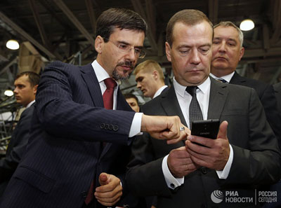 Dmitry Medvedev visited Import Substitution exhibition