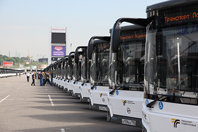 Vorobiev A., Moscow suburb Governor, participated in the ceremony of new AO Mostransavto buses