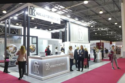 The J-1 Moscow Jewelry exhibition and congress is accommodated in Crocus Expo